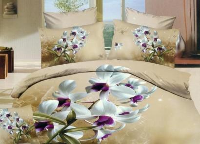 Дизайнерское постельное белье Word of dream Н816 Ванильное небо Сатин фото 2