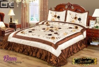 Silk Bedspread ZASTELLI 213 brown