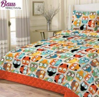 Комплект детского постельного белья Беби Совы Zastelli Бязь  фото