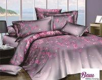 Комплект дизайнерского постельного белья Word of Dream H1791 БудуАрт Сатин