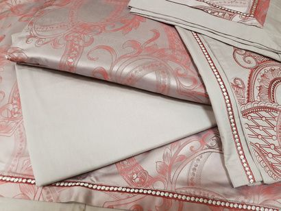 Bed linen set Word of Dream FSM342 Jacquard with embroidery  фото 6