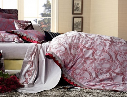 Bed linen set Word of Dream FSM342 Jacquard with embroidery  фото 2