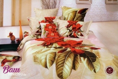 Комплект дизайнерского постельного белья Word of Dream Р412 Уместный Сатин фото
