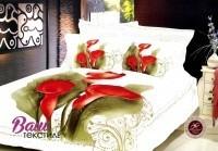 Комплект дизайнерского постельного белья Word of Dream H832 Каллы Сатин