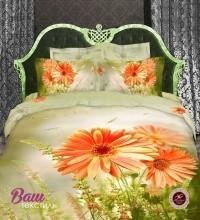 Дизайнерское постельное белье Word of Dream WLL30 Оранжевые герберы Сатин фото