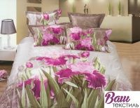 Комплект постельного белья Word of Dream H400 Розовый ирис Сатин