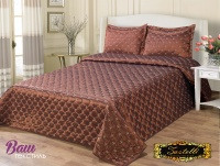 Silk Bedspread ZASTELLI 21535 chocolate фото