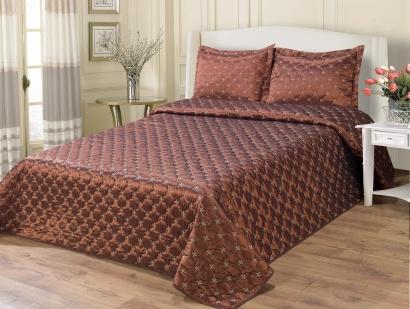 Silk Bedspread ZASTELLI 21535 chocolate фото 2